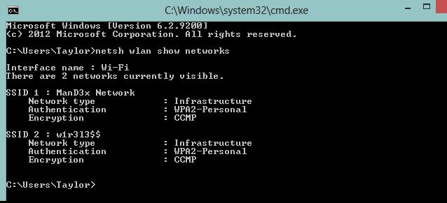 اتصال به شبکههای بیسیم از طریق CMD