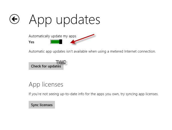 غیرفعال کردن بهروزرسانی خودکار اپلیکیشنها در ویندوز 8.1
