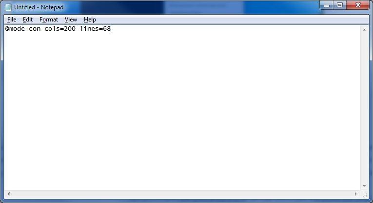 تغییر اندازهی پنجرهی محیط خط فرمان در زمان اجرای Batch Fileها