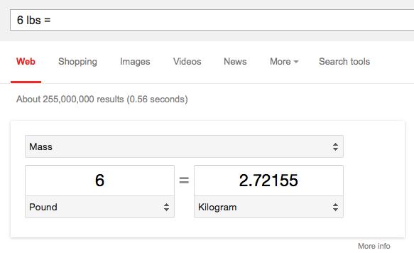 تبدیل واحدها به وسیلهی موتور جستجوی گوگل