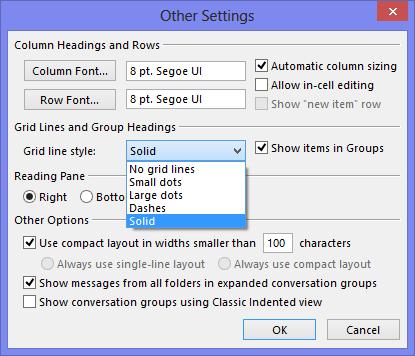 افزودن خط جداساز در میان لیست ایمیلها در Outlook 2013