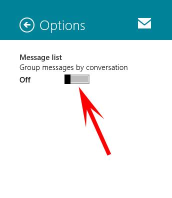 غیرفعال کردن حالت نمایش گروهی ایمیلها در ویندوز 8