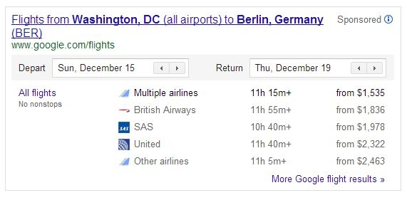 پیبردن به وضعیت پروازهای هواپیمایی از طریق گوگل