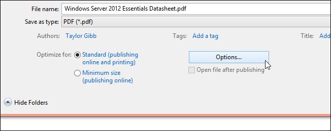 نحوه ی قرار دادن رمز عبور بر روی فایلهای PDF در Word 2013