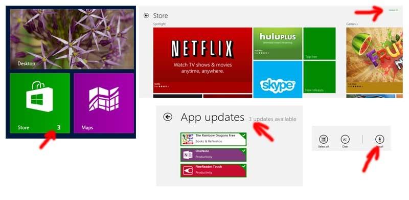 نحوهی بهروزرسانی اپلیکیشنهای ویندوز 8