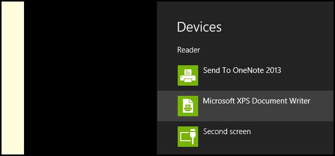 نحوهی پرینتگرفتن از فایلها در اپلیکیشن Reader ویندوز 8