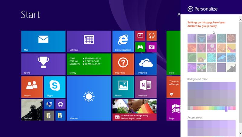 نحوهی جلوگیری از تغییر تصویر پشتزمینهی صفحهی Start در ویندوز 8
