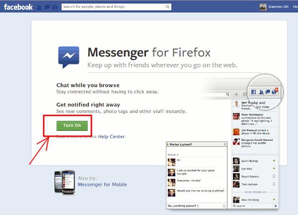 یکپارچهسازی فایرفاکس 17 با شبکههای اجتماعی