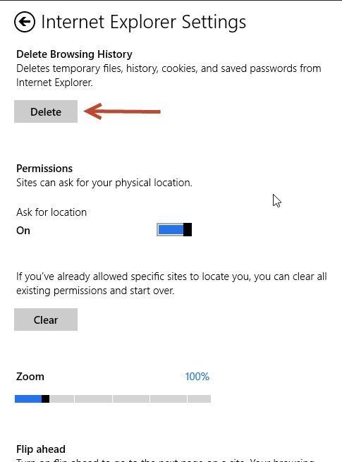 پاک کردن تاریخچه ی مرور صفحات وب در نسخه ی Modern UI مرورگر IE 10 در ویندوز 8