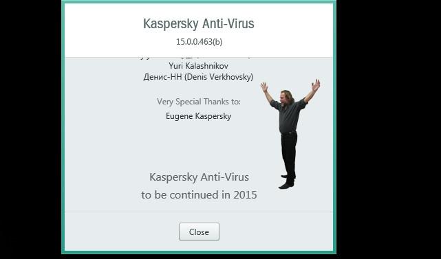 مشاهده ی عکس موسس شرکت Kaspersky در محیط نرمافزار