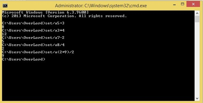 تبدیل CMD به ماشین حساب!