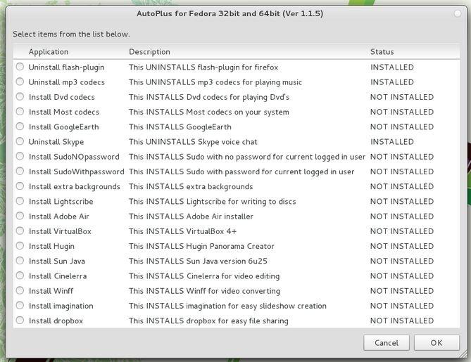 نصب آسان نرمافزارها در Fedora