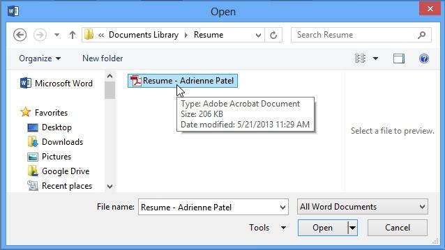 مشاهده و ویرایش فایلهای PDF در Word 2013