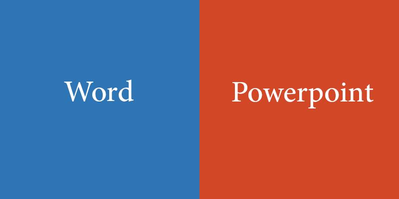 تبدیل مستقیم فایلهای Word به PowerPoint