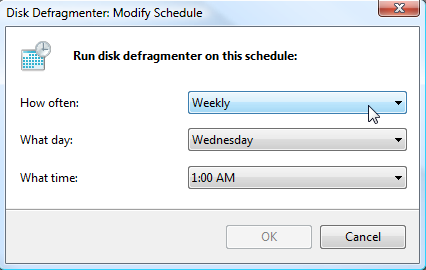 زمانبندی اتوماتیک عملیات Defragment در ویندوز 7