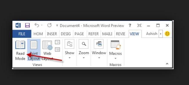 مطالعهی آسانتر فایلها در Word 2013