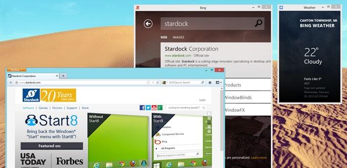 اجرای اپلیکیشنهای ویندوز 8 در محیط پنجرههای دسکتاپی