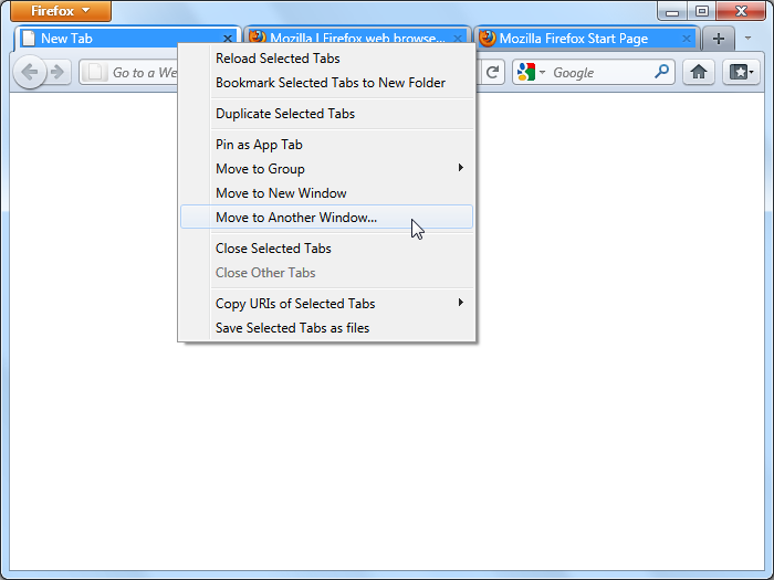 اعمال عملیات همزمان بر روی چند تب در مرورگر فایرفاکس