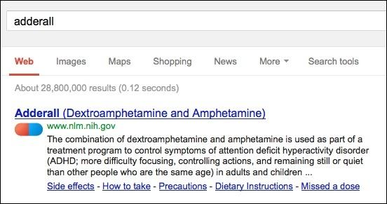 مشاهدهی اطلاعات بیماریها و داروها از طریق گوگل