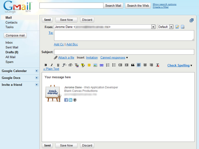 استفاده از چند امضای مختلف در Gmail