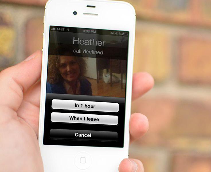 ارسال پیامک به تماسهای ردشده و ایجاد یادآور برای آنها در iOS 6