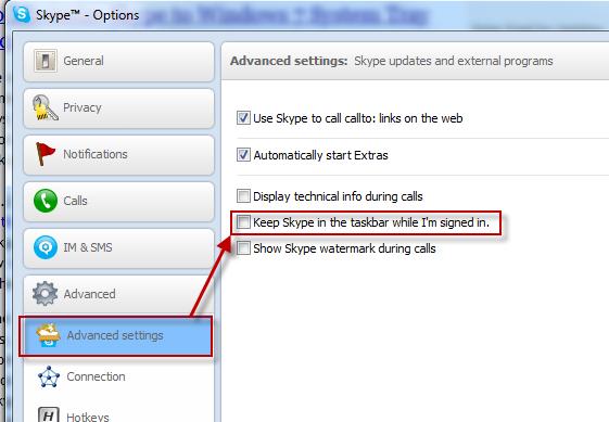 حذف آیکن Skype از نوار تسکبار ویندوز