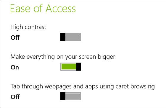 نحوه ی بزرگ کردن محتویات صفحه در ویندوز 8