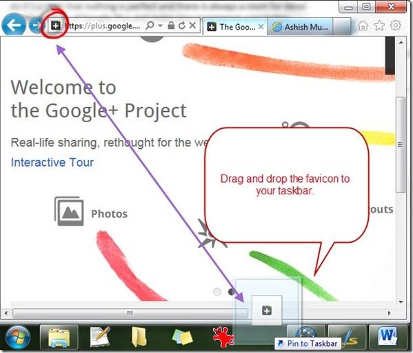 سنجاق کردن وبسایت ها به تسکبار ویندوز به وسیلهی اینترنت اکسپلورر 9