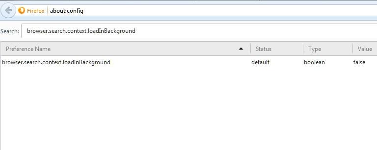 جلوگیری از باز شدن خودکار تب اعلام نتیجهی جستجو در فایرفاکس 13