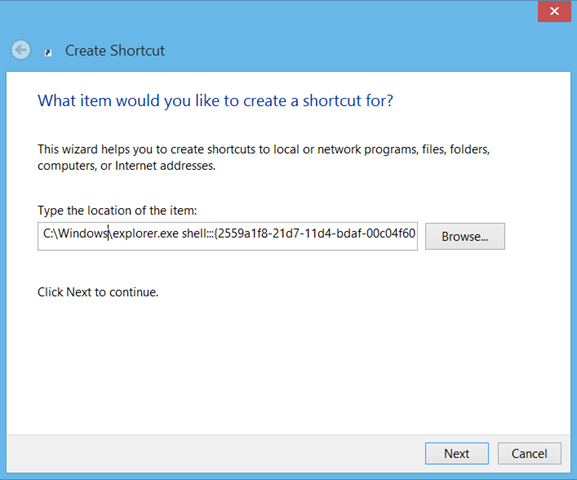 ایجاد یک فایل میانبر جهت دسترسی به تمامی اپلیکیشنها در ویندوز 8
