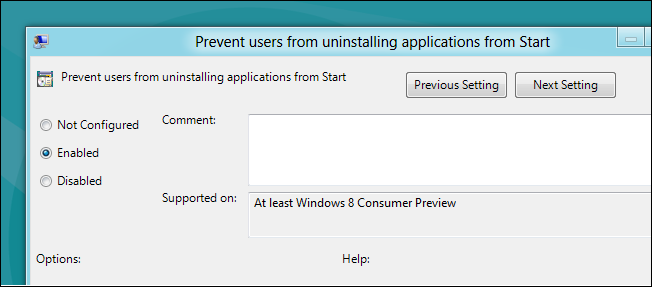 نحوه جلوگیری از پاک کردن اپلیکیشنهای ویندوز 8 توسط کاربران