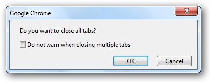 نمایش تأییدیه به هنگام بستن پنجرهی مرورگر Google Chrome