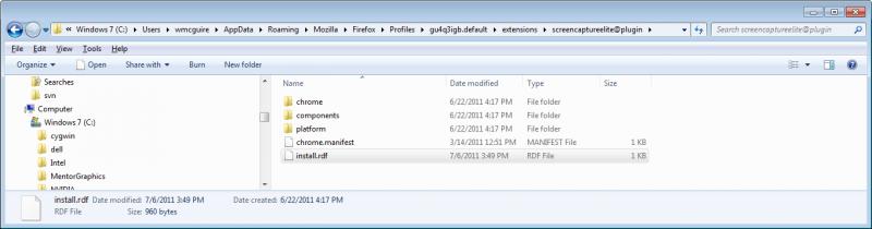 روشی سریع برای پیدا کردن پوشهی یک افزونهی خاص در پروفایل فایرفاکس