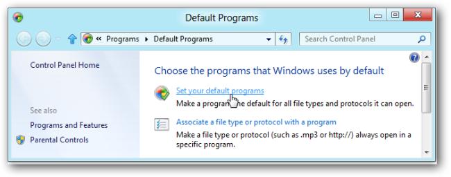 جلوگیری از باز شدن فایلها در محیط Modern UI در «ویندوز 8»