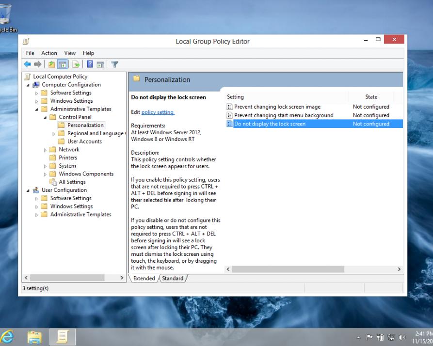 غیرفعال کردن Lock Screen در «ویندوز 8»