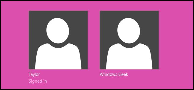 نحوهی تغییر رنگ پیشزمینهی صفحهی انتخاب حسابهای کاربری در ویندوز 8