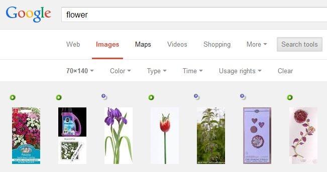 جستجوی تصاویر بر مبنای اندازهی دقیق در گوگل