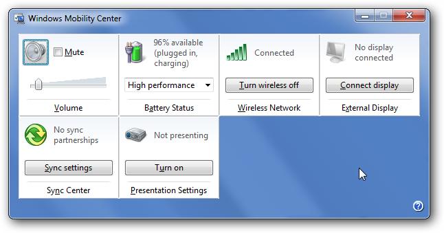 غیرفعال کردن Windows Mobility Center در ویندوز ویستا و 7