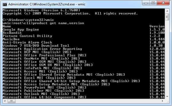 مشاهده لیست کلیهی نرمافزارهای نصبشده بر روی ویندوز