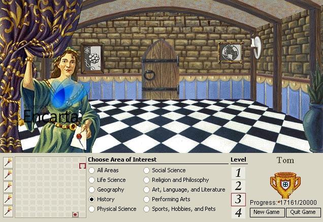 بازی مخفی شده در نرمافزار Microsoft Encarta