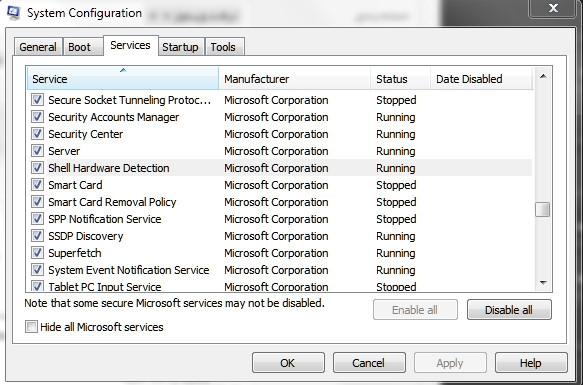 غیرفعال کردن قابلیت Scan and Fix در ویندوز 7