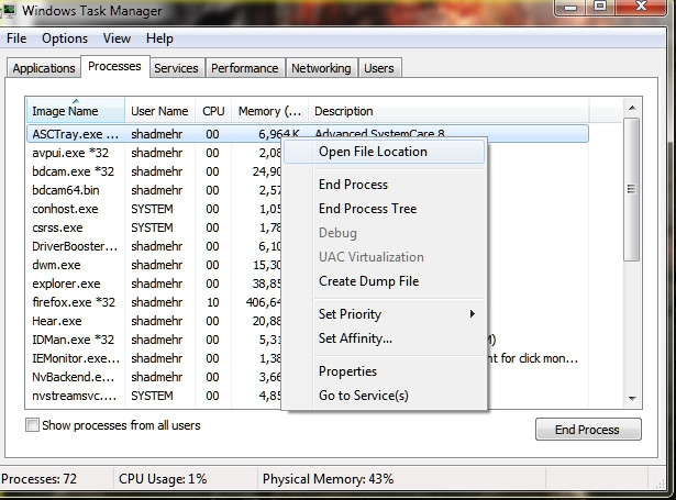 2 ترفند پیرامون Task Manager ویندوز ویستا و 7