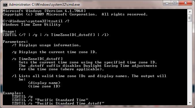 تغییر ساعت ویندوز از طریق CMD