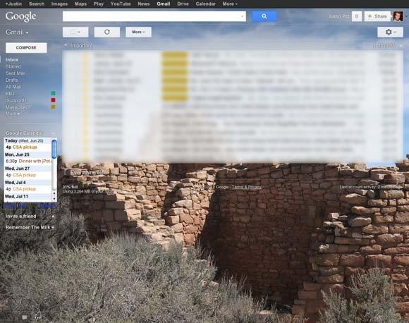 نحوهی قراردادن تصویر دلخواه به عنوان تصویر پشتزمینه در Gmail