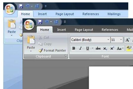 تغییر رنگ قالب نرمافزارهای آفیس 2007
