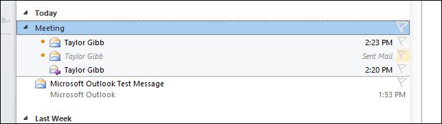 فعال کردن حالت نمایش Conversation در Outlook 2010