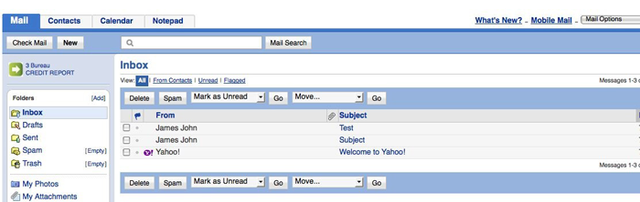 بازگردانی «Yahoo! Mail» به نسخه قدیمی