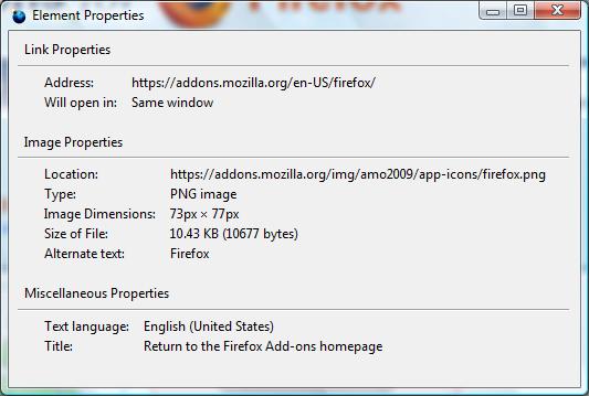 بازیابی و افزودن گزینه Properties به منوی راستکلیک مرورگر فایرفاکس