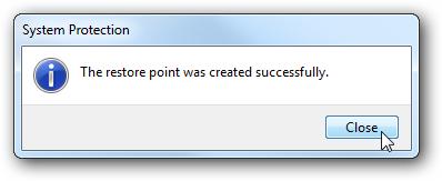 نحوهی ساخت یک نقطهی بازگردانی در ویندوز 7