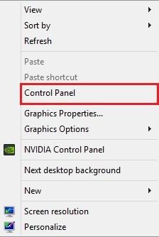 افزودن Control Panel به منوی راستکلیک دسکتاپ